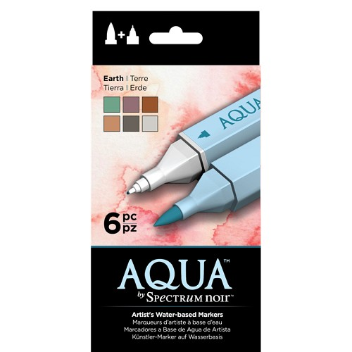 Spectrum Noir Aqua Markers 6 in een pak - Earth