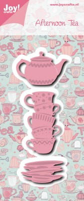 6002/0976 Cutting & Embossing Afternoon tea kopjes + theepot