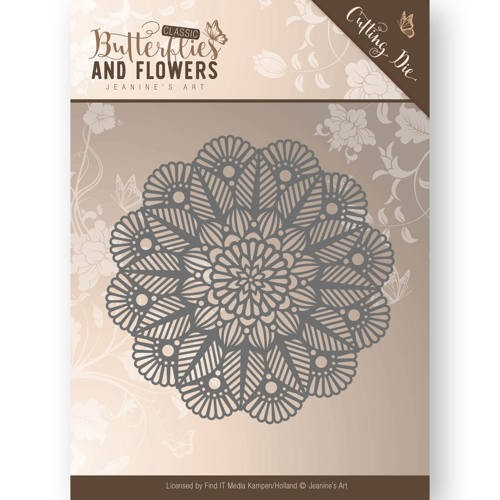 Die - Jeanine`s Art - Butterflies and Flowers - Doily