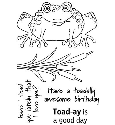 Woodware Clear Stamp Set Toadally Fantastic