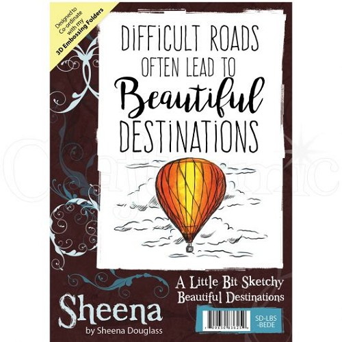 Sheena Douglass Rubber Stamp - A Little Bit Sketchy - Beautiful Destinations