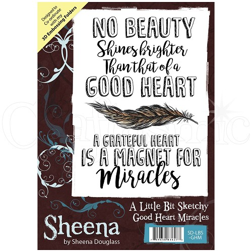 Sheena Douglass Rubber Stamp - A Little Bit Sketchy - Good Heart Miracles