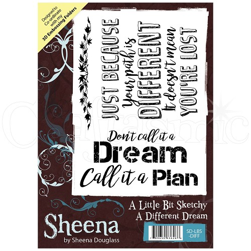 Sheena Douglass Rubber Stamp - A Little Bit Sketchy - A Different Dream