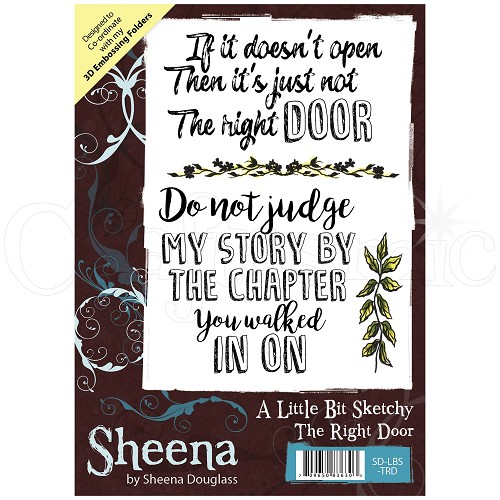 Sheena Douglass Rubber Stamp - A Little Bit Sketchy - The Right Door
