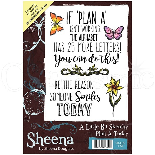 Sheena Douglass Rubber Stamp - A Little Bit Sketchy - Plan A Today