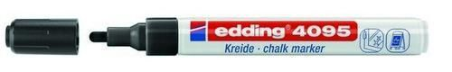 edding-4095 kalk / window marker zwart 1ST 2-3 mm