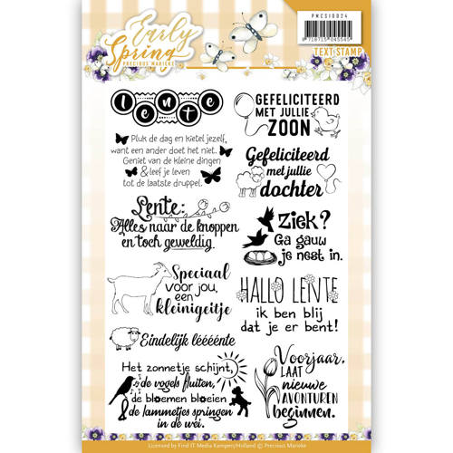 Textstamp - Precious Marieke - Early Spring