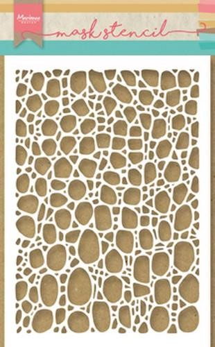 ps8001 Marianne D Mask stencils Tiny`s cobble stone