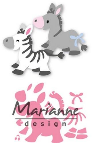 col1447 Marianne D Collectable Eline`s zebra & donkey