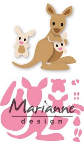 col1446 Marianne D Collectable Eline`s kangaroo & baby