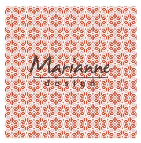 df3445 Marianne D Embossing folder 3D - Japanese star