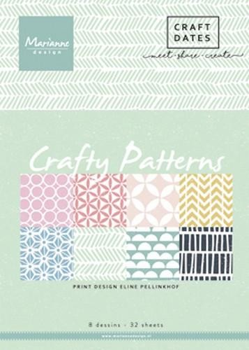 pb7054 Marianne D Paper pad Crafty Patterns A5