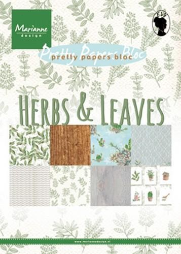 pk9152 Marianne D Paper pad Herbs & leaves A5