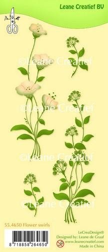 LeCrea - Clear stamp Flower swirls