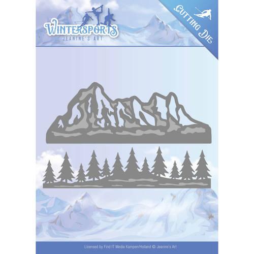Die - Jeanine`s Art - Wintersports - Mountain Border