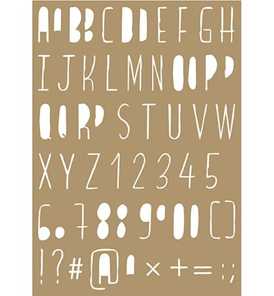 6002/0849 Poly Besa Stencil Lettering stencils