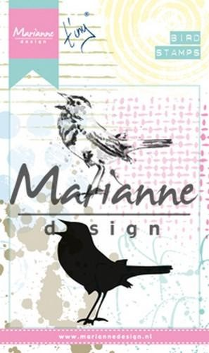 mm1619 Marianne D Cling Stempel Tiny`s Birds 2