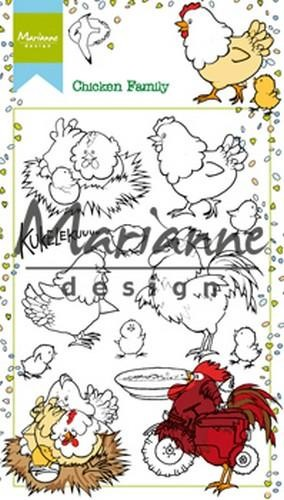 ht1631 Marianne D Stempel Hetty`s Chicken Family