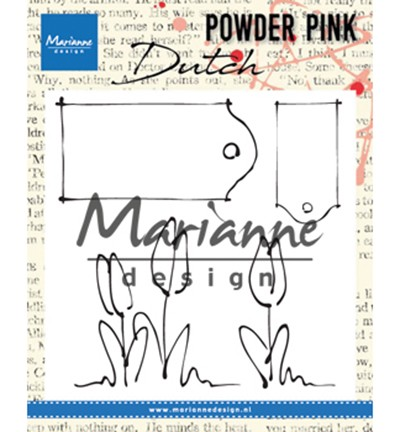 PP2801 - Powder Pink - Tulips & labels stempel