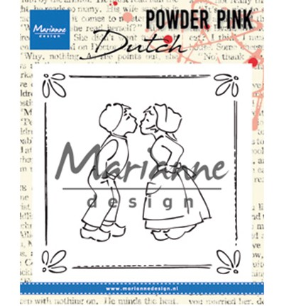 PP2803 - Powder Pink - Kissing couple stempel