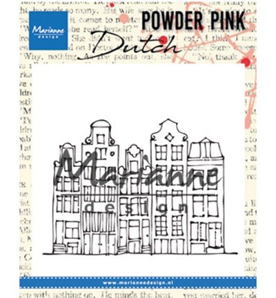 PP2804 - Powder Pink - Canal houses stempel
