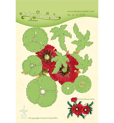 LeCrea`Multi Die Cutting/Emb. flower 013 Klaproos