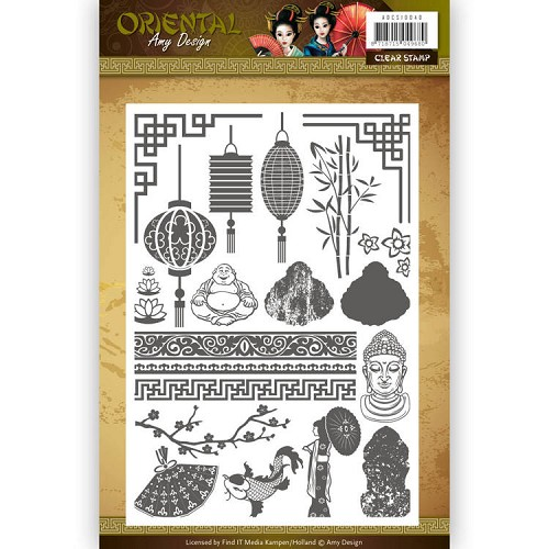 Clearstamp - Amy Design Oriental