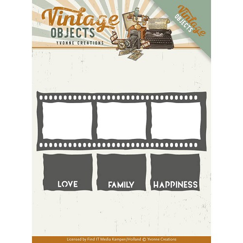 Dies - Yvonne Creations - Vintage Objects - Film Strip