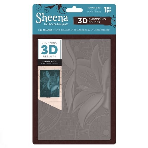 Sheena Douglass 3D Embossing Folder – Lily Collage