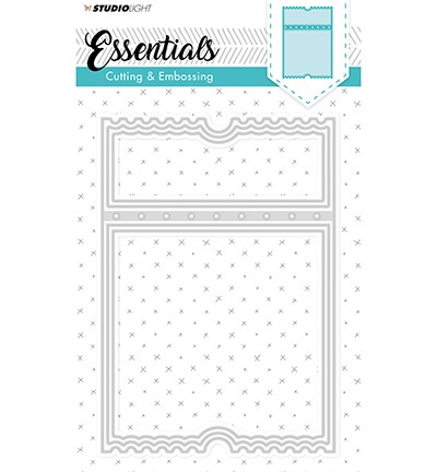 Embossing Die Cut Stencil Essentials nr.98 ticketmal