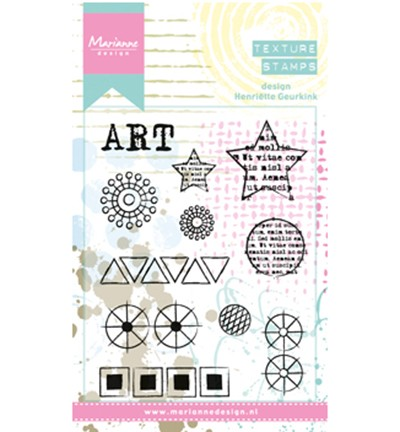 MM1621 - mixed media Henriëtte`s elements stamps