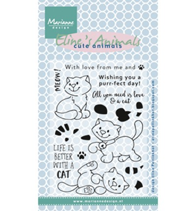 EC0172 - clearstamp Eline`s kittens