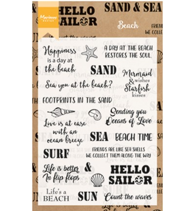 cs1007 clearstamp Beach sentiments