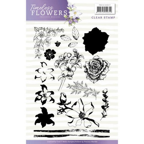 Clearstamp - Precious Marieke - Timeless Flowers