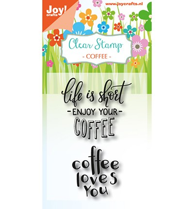 6410/0476 - Clearstempel - Coffee txt - Enjoy