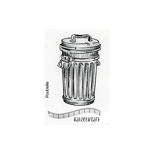rubber stamp Trash can