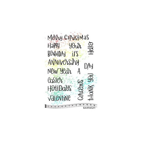 rubber stamp Holidays Quotes English