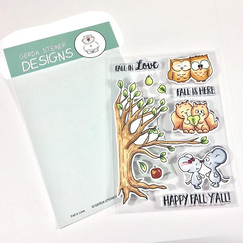 Fall in Love 4x6 Clear Stamp Set
