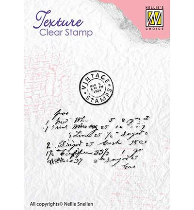 TXCS008 - Clear stamps textures Writing