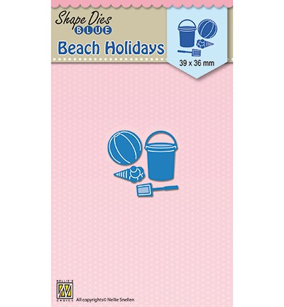 SDB051 - Shape Dies blue Holidays beach holidays