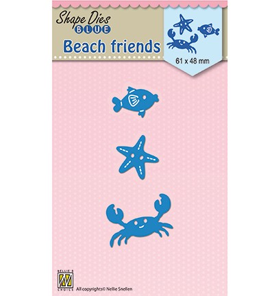 SDB044 - Shape Dies blue Holidays Beach Friends