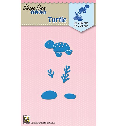 SDB043 - Shape Dies blue Holidays Turtle