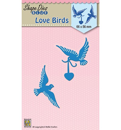 SDB038 - Shape Dies blue Love birds