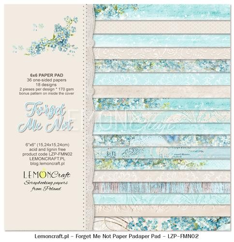 "Paper Collection Set 6""*6"" Forget me not"