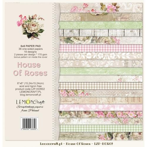 "Paper Collection Set 6""*6"" - House of Roses II"