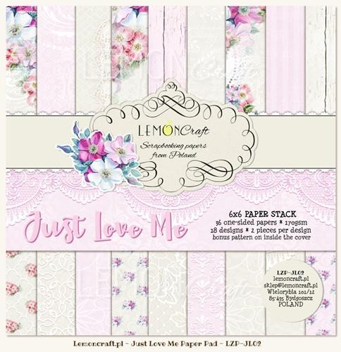 "Paper Collection Set 6""*6"" - Just Love Me"