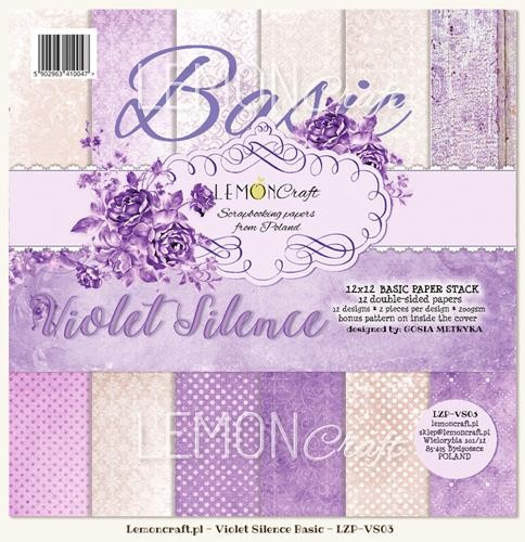 "Paper Collection Set 12""*12"" - Basic - Violet Silence"
