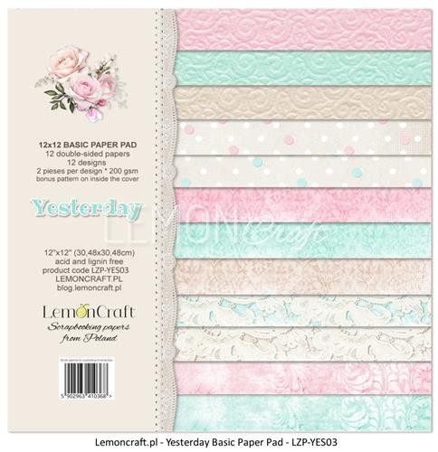 "Paper Collection Set 12""*12"" - Basic - Yesterday"