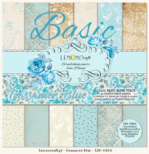 "Paper Collection Set 12""*12"" - Basic - Gossamer Blue"