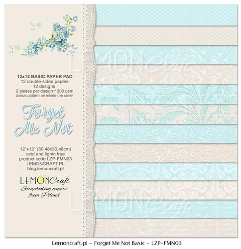 "Paper Collection Set 12""*12"" - Basic - Forget Me Not"